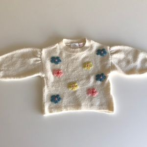 Sweater with Flowers 12-18 m